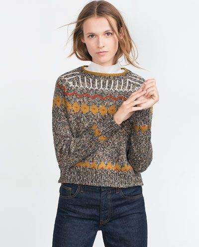 Image 2 of JACQUARD SWEATER from Zara