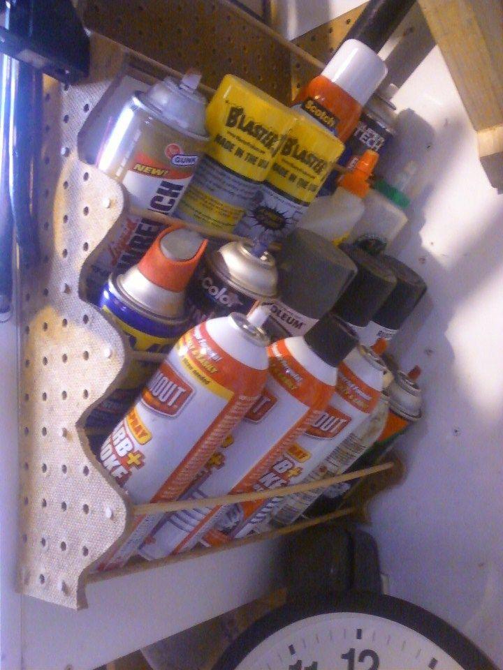 25 best ideas about spray paint storage on pinterest. Black Bedroom Furniture Sets. Home Design Ideas