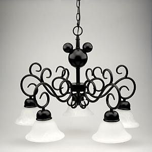 "mickey chandelier...if I do my kitchen in Disney.   Why would you ""do"" your kitchen in Disney?!"