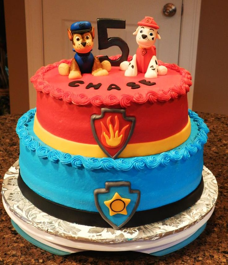 Paw Patrol Cake https://www.facebook.com/BeccasEdibleCreations/photos/pb.433146093438610.-2207520000.1426385642./698598930226657/?type=3&theater