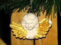 aniołek z gipsu