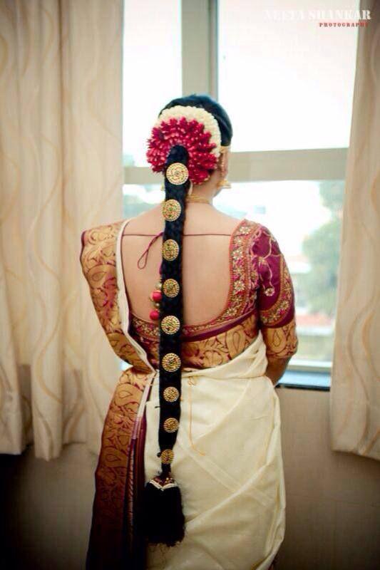 61 best Tamil bridal hair images on Pinterest | Hindu bride, Indian bridal hairstyles and Braid ...