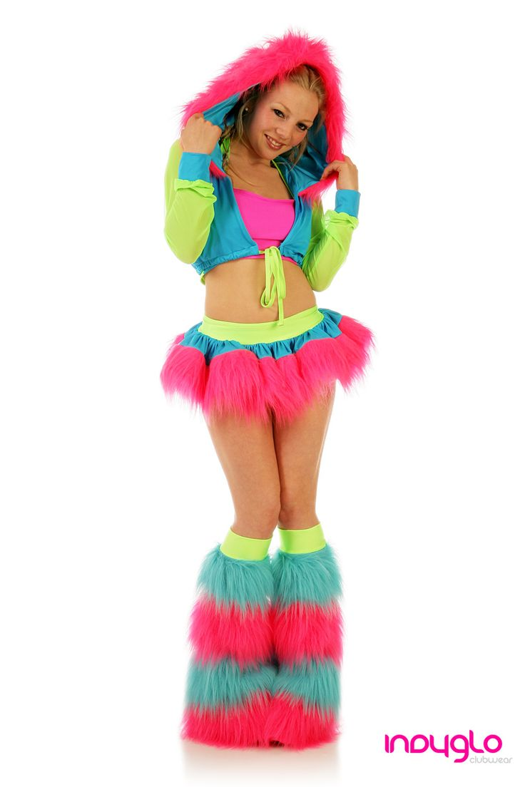 Neon Rave Outfit - GloRun - Like this color combo
