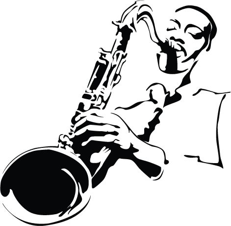 jazz art black and white - Google Search | Side Man ...