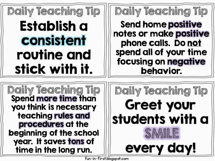 Great teaching tips!