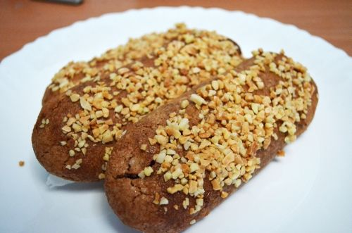 Toast or roast the almonds for a while and make sure that they do not get burnt because the taste will become sour.