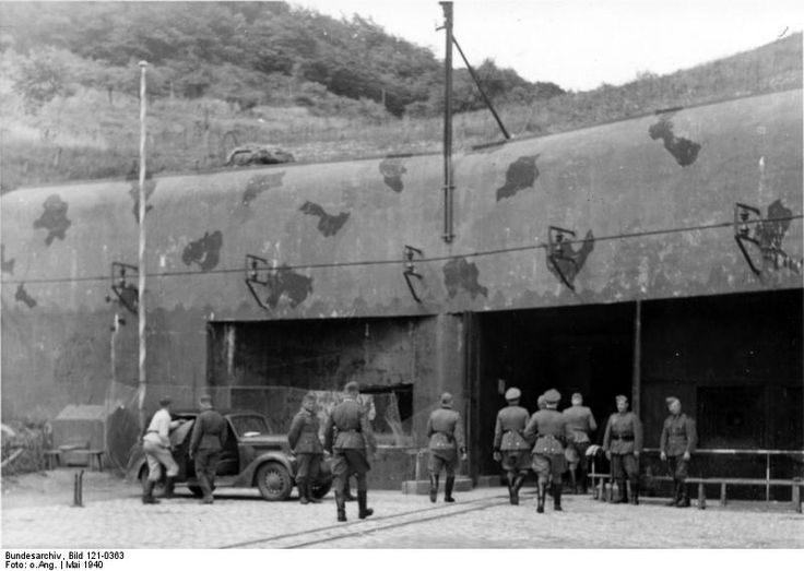 German Generalleutnant Kurt Daluege visiting the Ouvrage Hackenberg fortification on the Maginot Line near Thionville, Moselle, France, May 1940; the party was entering the munitions entrance