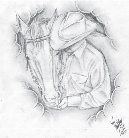 Horse And Cowboy Tattoo Design By Nathan Smith memorial for dad