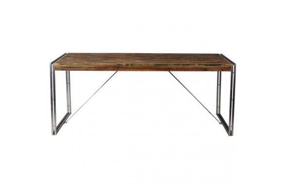 Eetkamertafel Industrial Bogar, verkrijgbaar bij Trendhopper