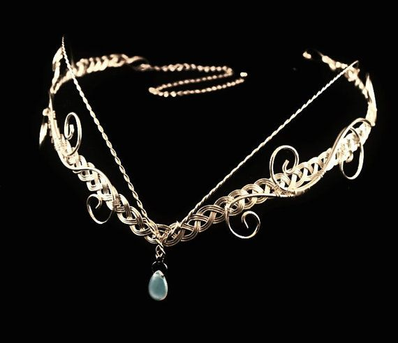 Elven moonstone Circlet silver plated tiara. silver plated. £25.00 #elven #tiara