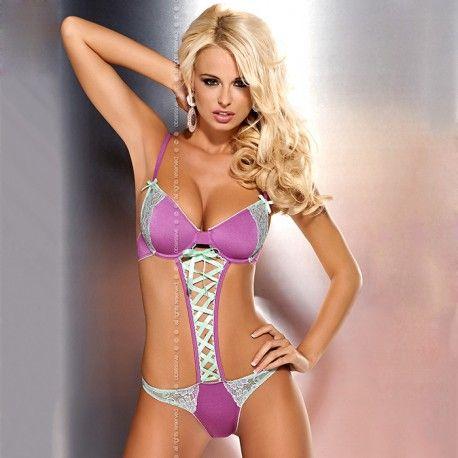 Romántico y atractivo vestido con sujetador de aros con tirantes ajustables.  Talla: S/M