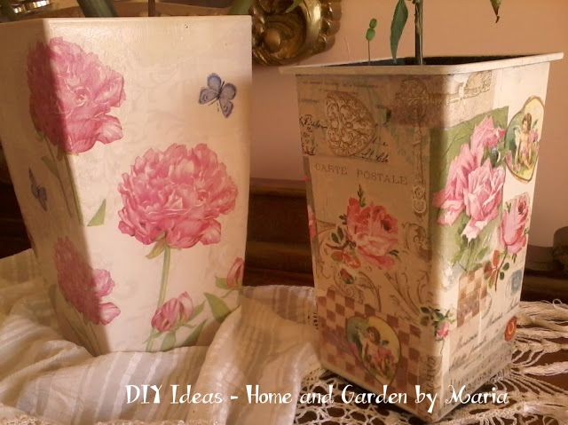 DIY Ideas - Home and Garden by Maria: Decoupage - Ντεκουπάζ σε Κασπώ.