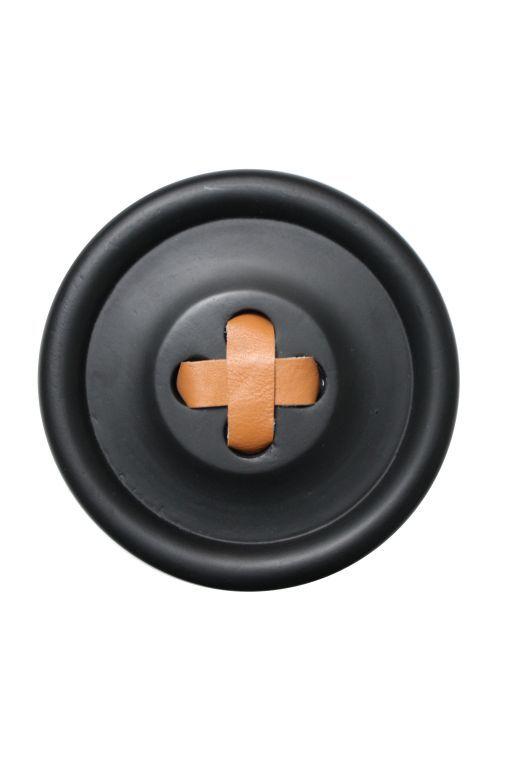 Dřevěný věšák Button Black 18 cm | Nordic Day #hkliving