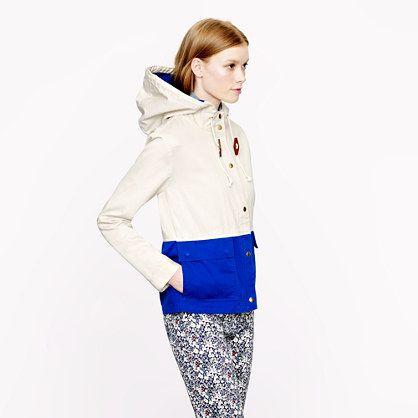 Colorblock sail jacket - cotton & denim jackets - Women's blazers & outerwear - J.Crew