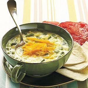 cool Spicy Poblano and Corn Soup | MyRecipes.com