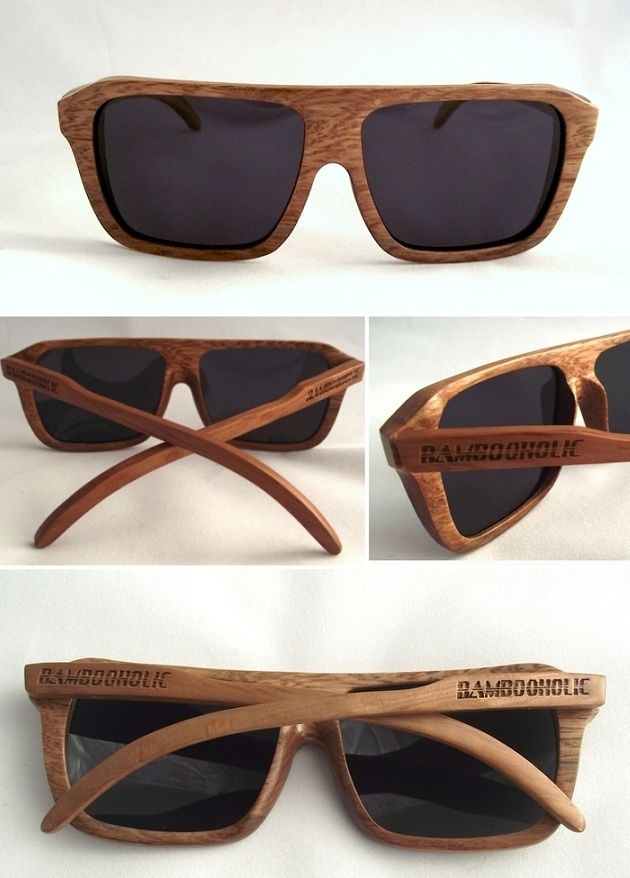 Occhiali da sole in bamboo ~ Bamboo #sunglasses - di @Bambooholic via it.dawanda.com