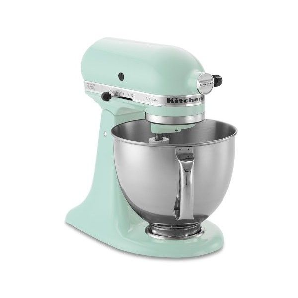 KitchenAid Artisan Stand Mixer ($350) ❤ liked on Polyvore featuring home, kitchen & dining, small appliances, kitchen aid stand mixers, kitchenaid small appliances, kitchen aid standing mixer, kitchenaid and kitchenaid stand mixer