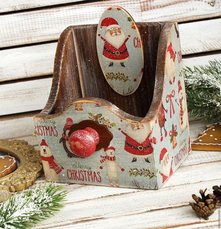 Купить короб праздничный универсальный CHRISTMAS - коричневый, петух, петухи, курицы, петух 2017