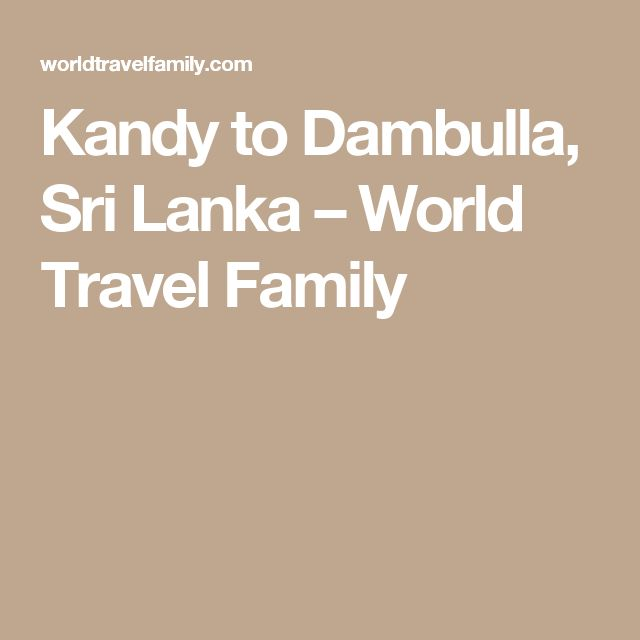 Kandy to Dambulla, Sri Lanka – World Travel Family