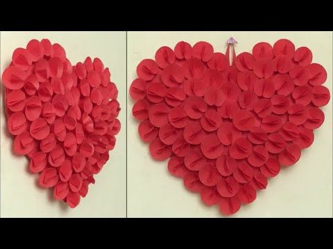 Best Out Of Waste Idea 2018 Heart Wall Hanging Craft Idea Diy