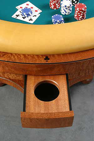 Poker Table Plans | Ebony inlaid playing suits: The outer ring is decorated with ebony ...