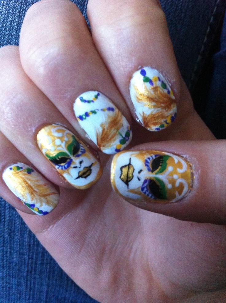 Luxury Mardi Gras Nail Art Ideas - Nail Paint Design Ideas ...
