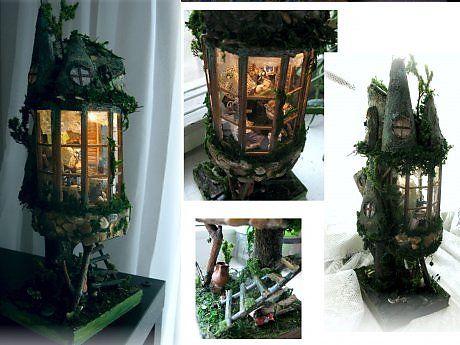 """Миниатюра """"Лесной дом"""" - Прикладное искусство - Авторская кукла"""