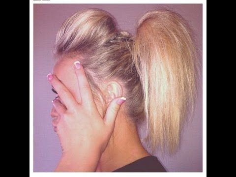 ▶ Cheerleading Hair Tutorial: The Ponytail Poof - YouTube