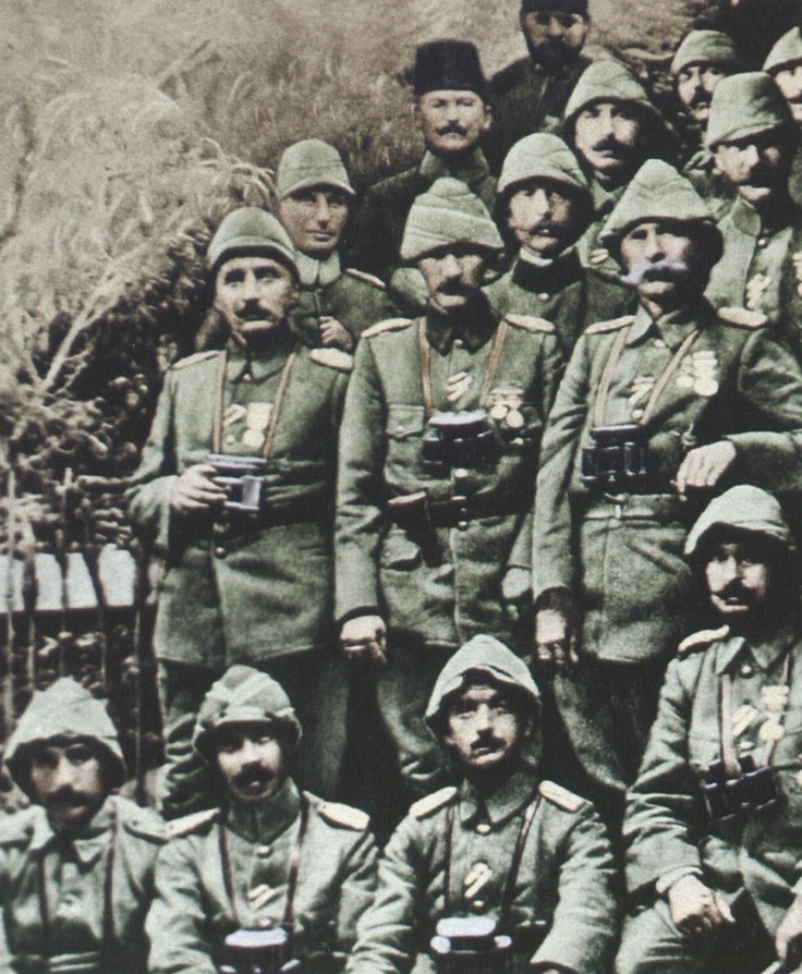 Atatürk. Starting his reputation in the Dardanelles in WW1.