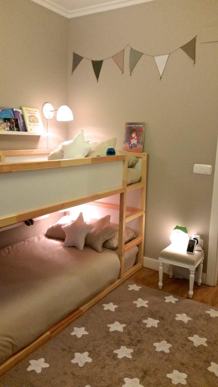Standart IKEA Kura bed with lights