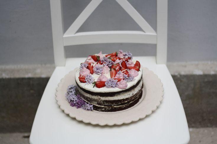 Děvče u plotny - Čokoládový Naked Cake