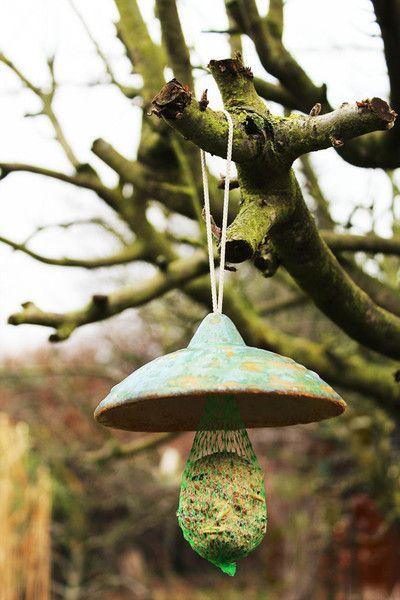 Vögel - Keramik - Meisenknödel - Dach, Steinzeugqualität.. - ein Designerstück von zeit-geister bei DaWanda