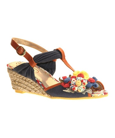 Take a look at this Red & Blue Hippie Goddess T-Strap Espadrille by Poetic Licence on @zulily today!
