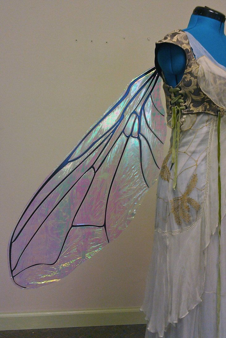 Large Iridescent Fly Wings by ~FaeryAzarelle