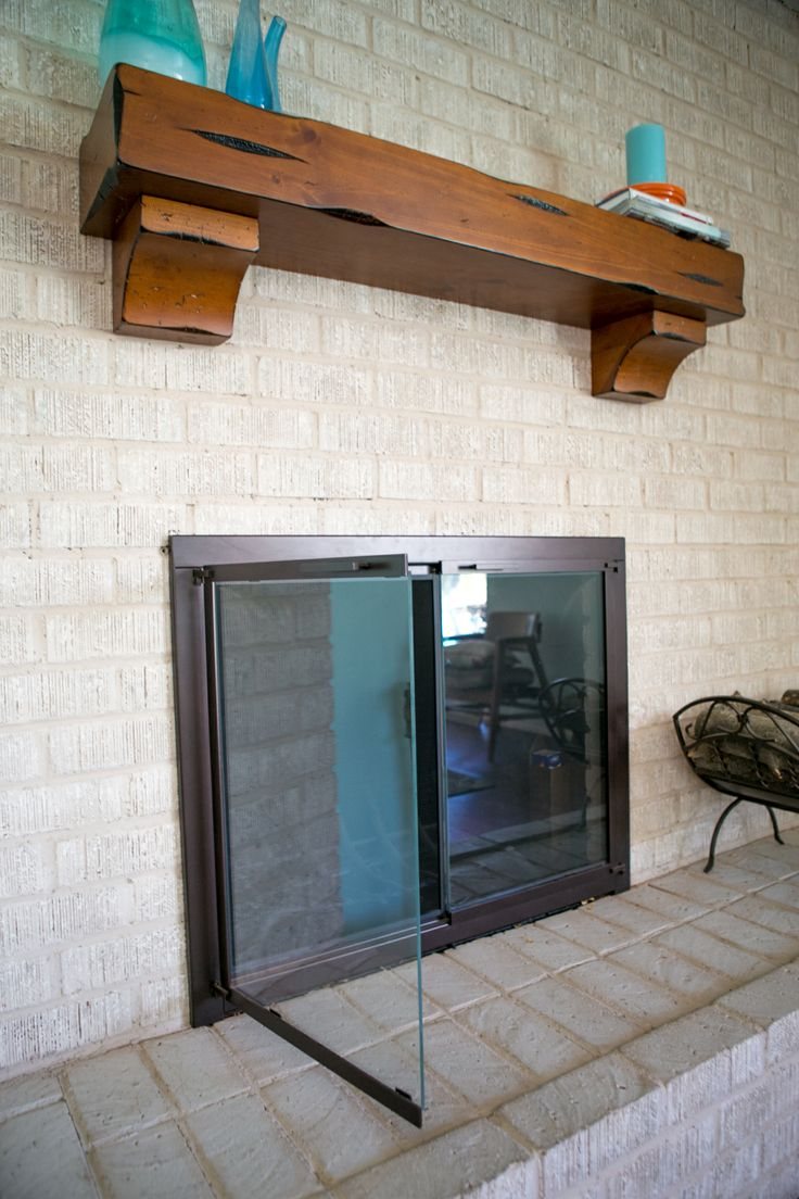 Close Glass Doors On Fireplace Pictures Logs Burning In The ...
