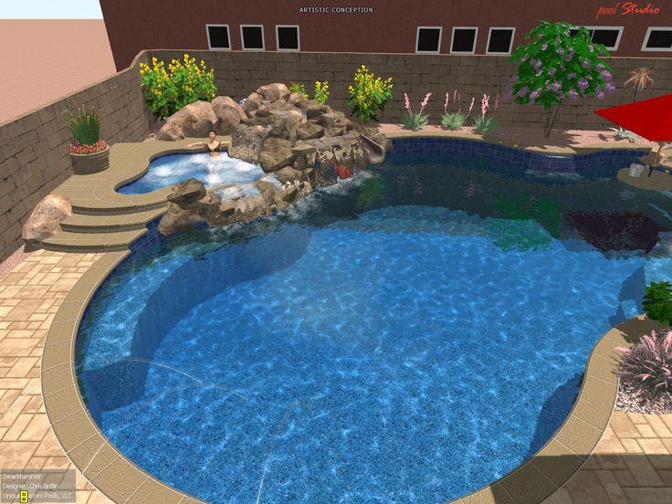 swimming pool designs | Client Designs – Swackhammer | Phoenix Landscaping Design & Pool ...