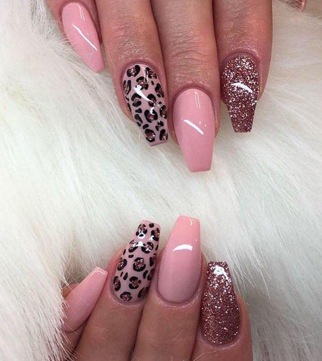 50 Trendy Leopard Print Nail Art Designs You Will Love Leopard Print Nails Cheetah Print Nails Pink Nails