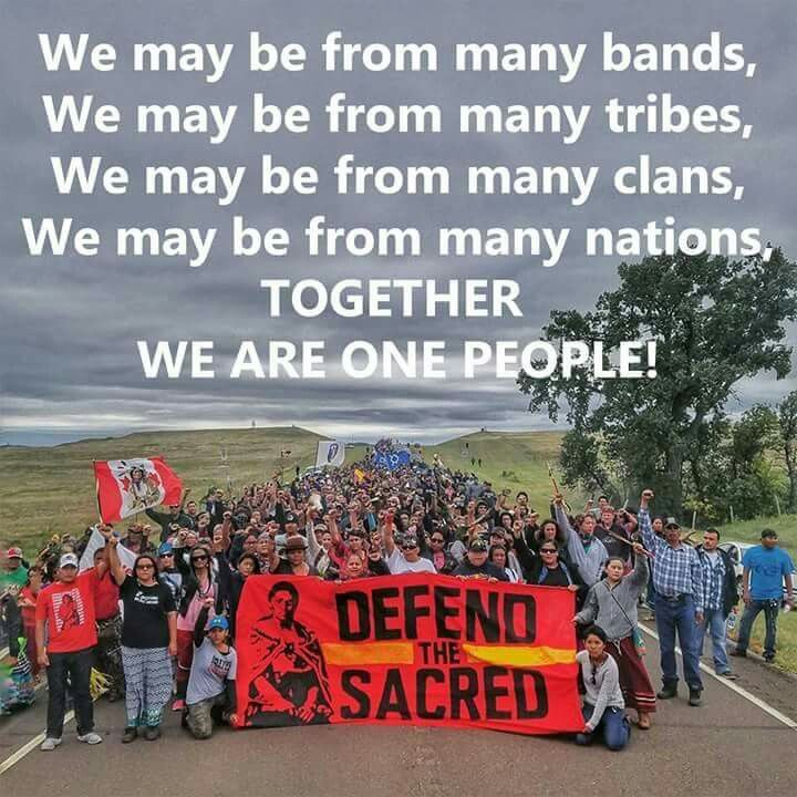 #TogetherWeStandUnited #DividedWeFall ✊ #StandforStandingRock