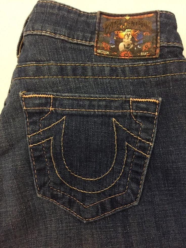 Skinny Leg. True Religion Jeans. Flare Bottom. Flare: 11. Size 26. Inseam: 32. Waist: 14. | eBay!