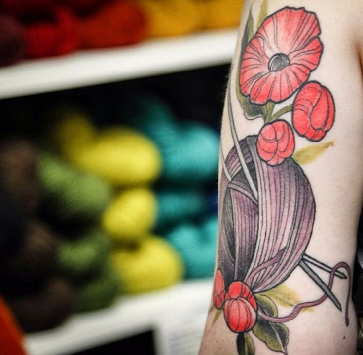 Knitting Related Tattoos : Best images about fiber related tatoos on pinterest