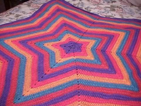 92 Best Crochet Star Round Afghans Images On Pinterest Blankets