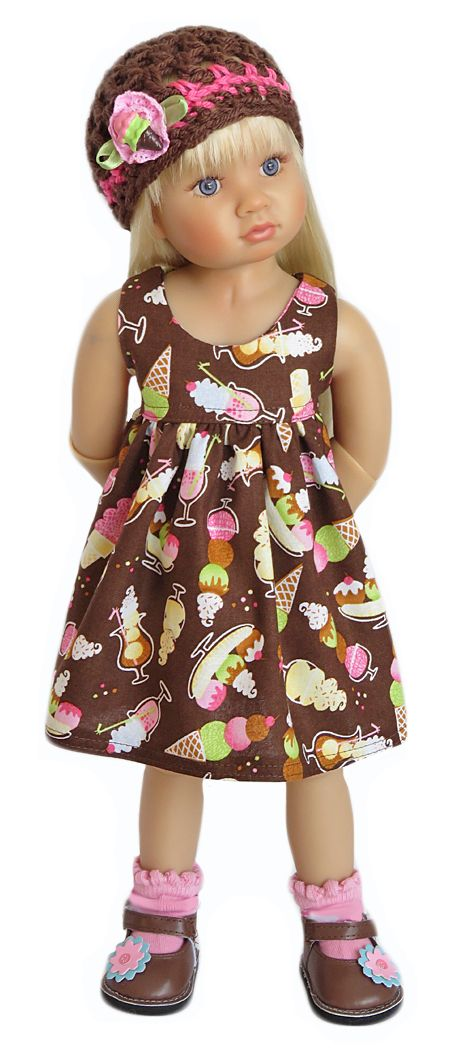 Silly Monkey - Kidz 'n' Cats - Brown Ice Cream Dress and Hat, $21.99 (http://www.silly-monkey.com/products/kidz-n-cats-brown-ice-cream-dress-and-hat.html)