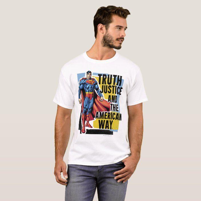 Truth Justice T Shirt Zazzle Com Justice Tshirts T Shirt Superman T Shirt