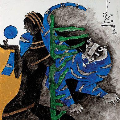 Summer Art Auction - Maqbool Fida Husain, Untitled, 2005