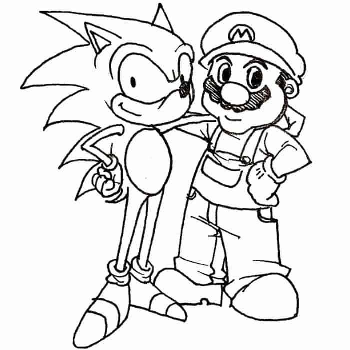 Sonic And Mario Coloring Pages In 2020 Mario Coloring Pages Super Mario Coloring Pages Coloring Pages