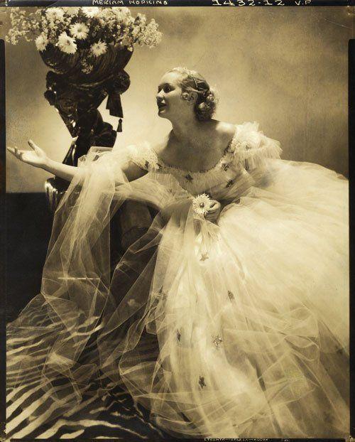 Miriam Hopkins in fashion study for Vogue magazine, 1934  (Photo by Edward Steichen)