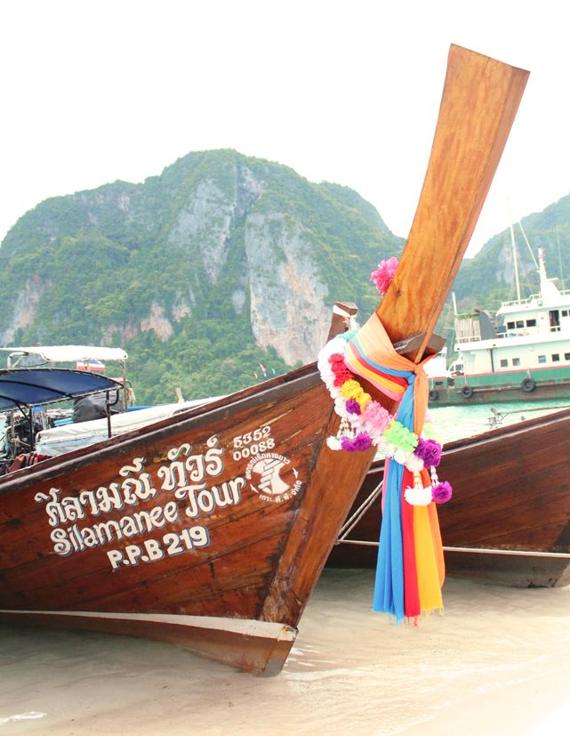 Koh Phi Phi, Thailand. Longtail boat.