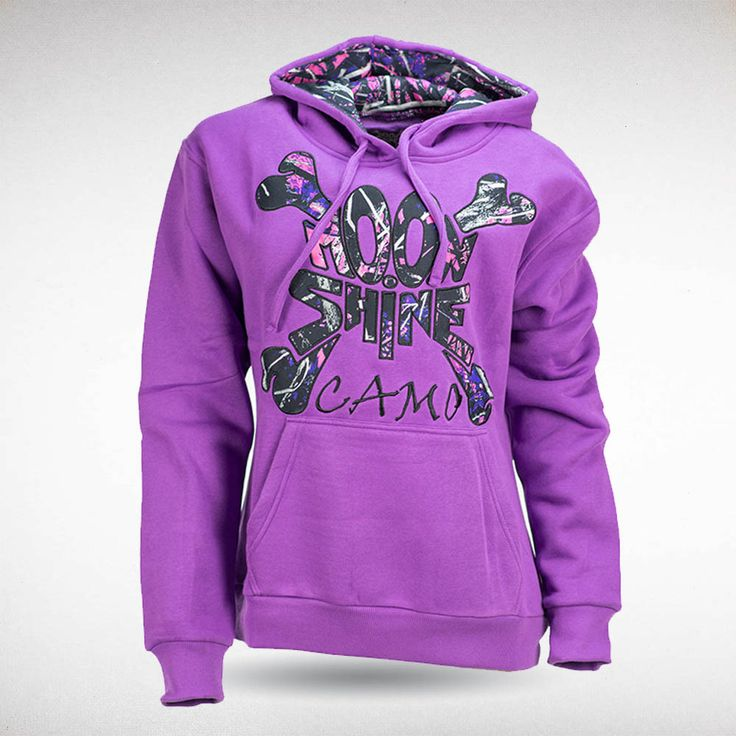 Moon Shine Camo - Muddy Girl Camo | Women's Purple Hoodie, $49.99 #muddygirl…