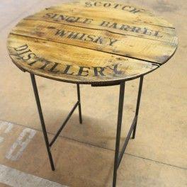 Tavolo coperchio legno barile whisky