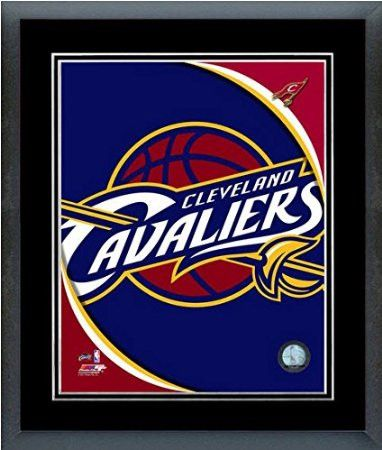 Cleveland Cavaliers Team Logo Framed With double black matting Ready To Hang- Awesome & Beautiful